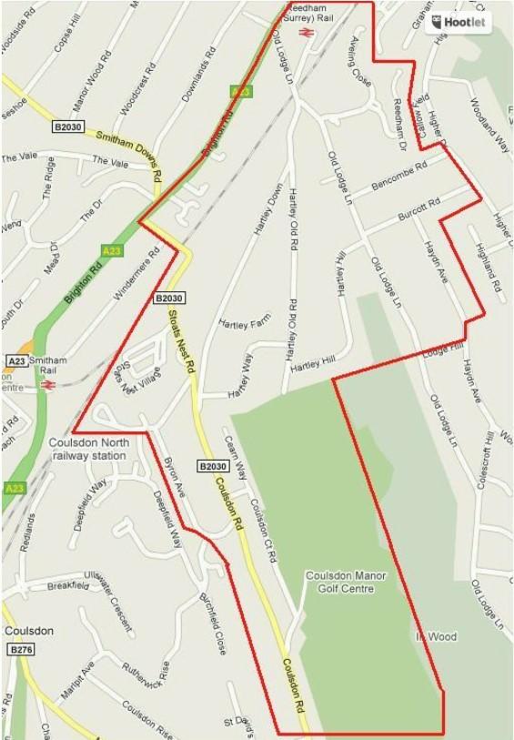 Map of HADRA area